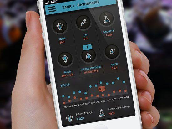 Saltwater Tank Dashboard Mobile UI Inspiration