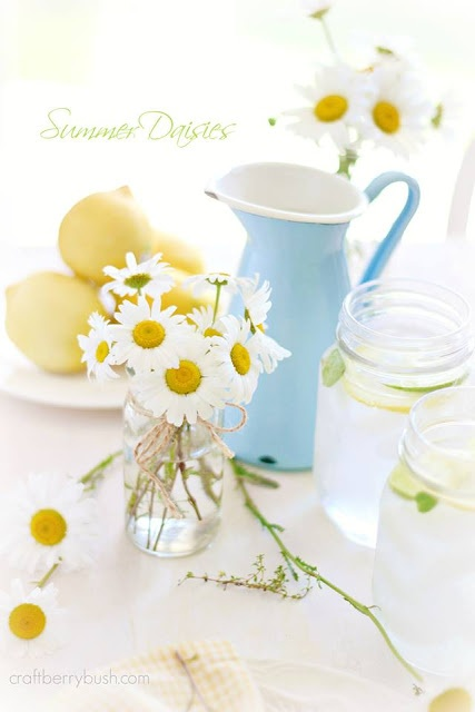 Craftberry Bush - Summer tablescape with free wild flowers