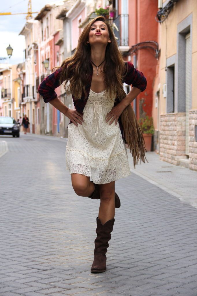 Romantic Cowgirl | Lace Dresses & Tartan Plaid Shirts & Blouses
