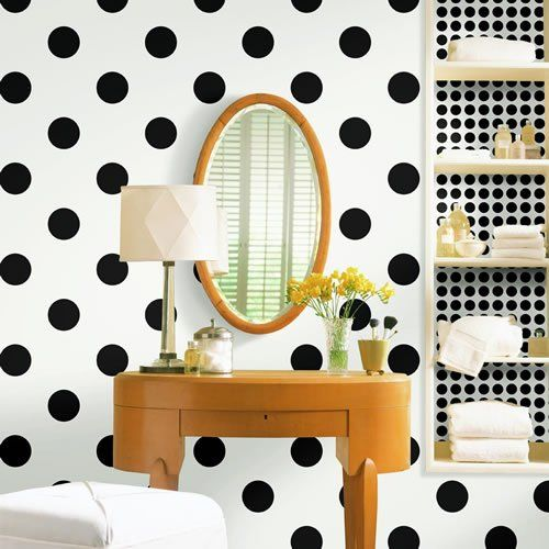 polka dots bathroom vanity