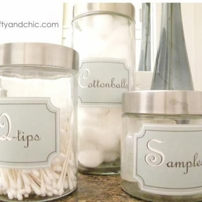 Printable Bathroom Container Labels