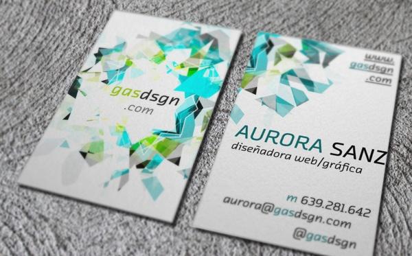 Personal Bussines Card by Aurora Sanz, via Behance