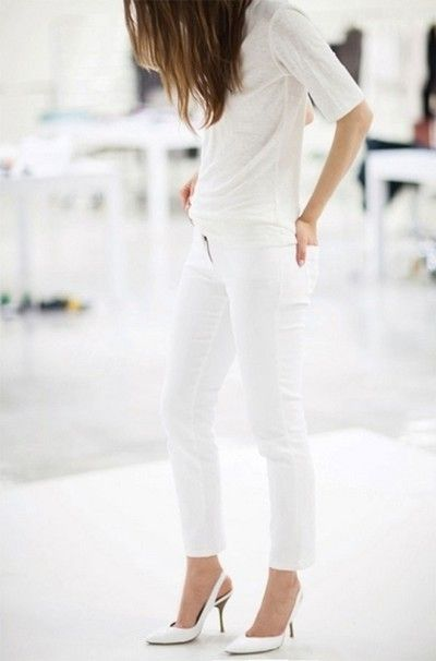 Flattering All White Ensembles