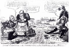 Oh dear... ;-) I shall have to find more about this (I.e. who drew it), but it is pretty typical of the scatological humour of cartoons of the time. I haven't seen too many caricatures of John. This one is probably the *cough* least flattering that I have seen. Refers to the Walcheren expedition of 1809 and Lord Chatham's indolence.