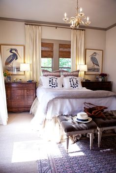 Meg Lonergan of LeSueur Interiors. Love the his and her monogram