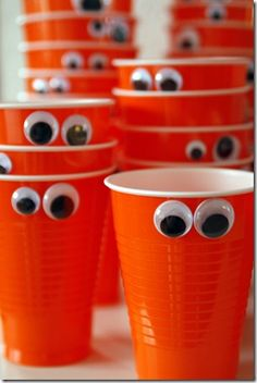 Monster Cups. Cute for a kid's party.