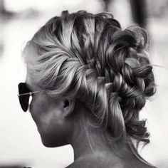 Braided up-do style #hair #summer #braid