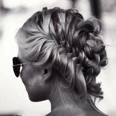 Braided up-do style #hair #summer #braid