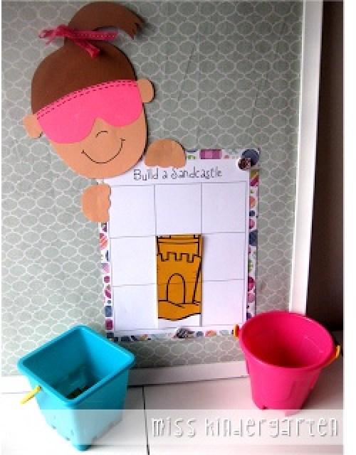 Miss Kindergarten: Collecting Shells & Building a Sandcastle {classroom management idea}