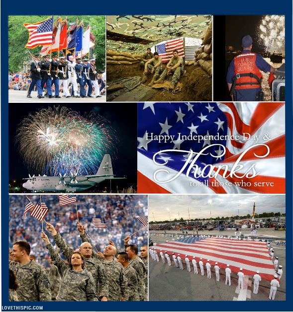 Indepence Day - Thanks to those who serve military usa america red white blue independence 4 of july served