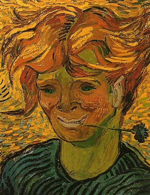 Vincent van Gogh, Giovane con Fiordaliso, 1890