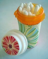 Repurpose plastic pill bottles | ecogreenlove
