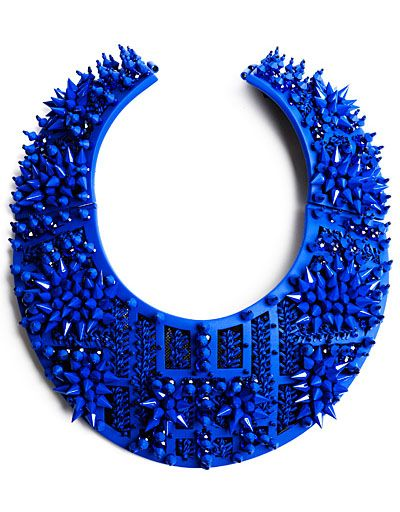 Blue collar #necklace by Heaven Tanudiredja Jewelry