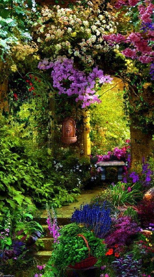 Garden Entry, Provence, France - Photograph