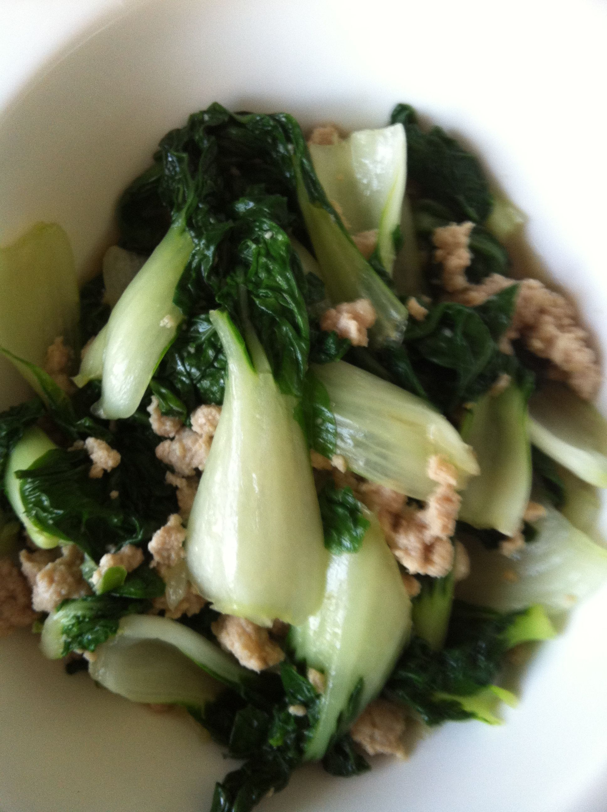 Pak Choi Cooked Pak Choi With Oyster Sauce