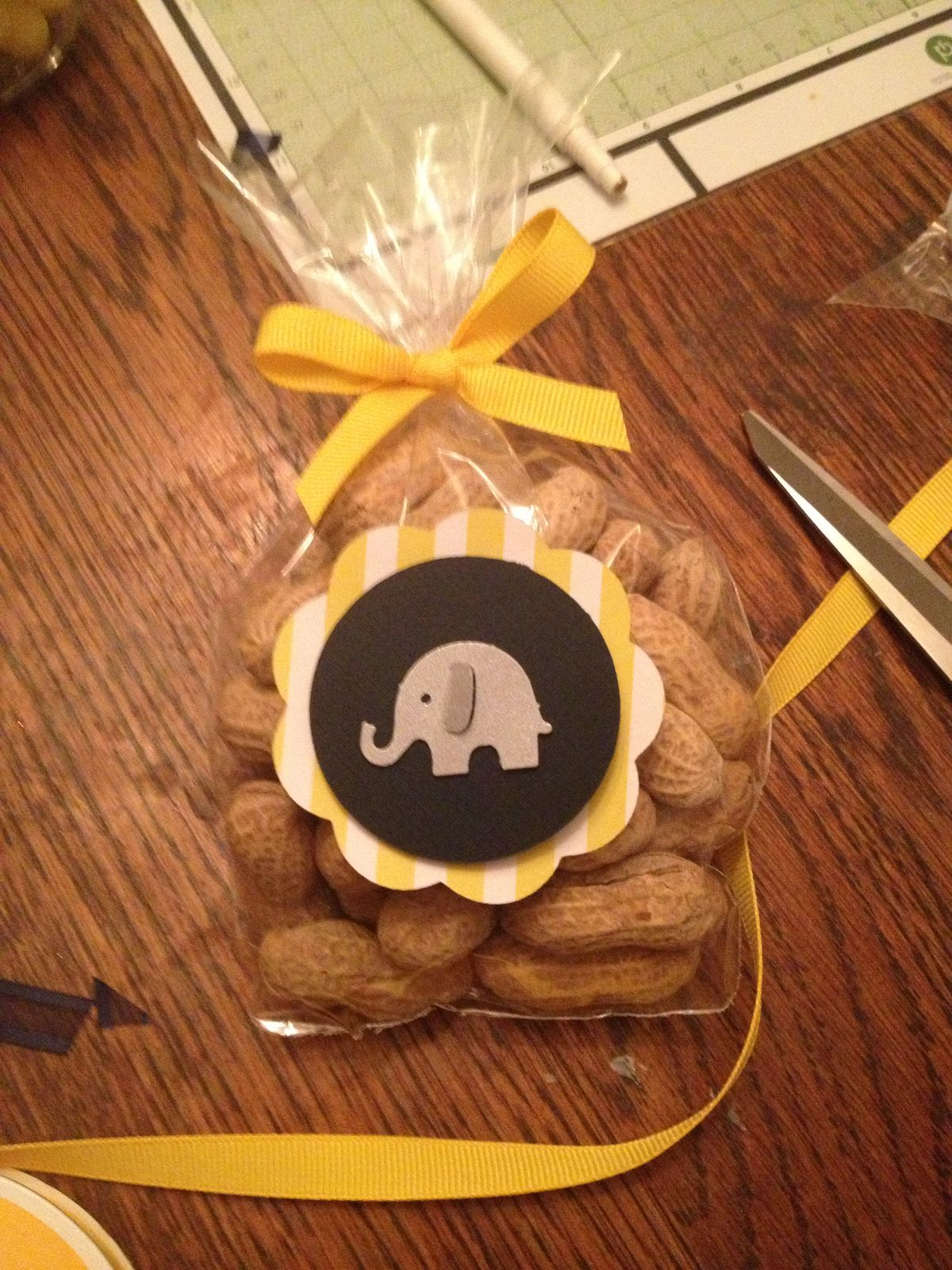 Elephant And Invitations Baby Shower Yellow Gray