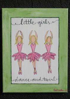 Little Girls Dance And Twirl - $45.00