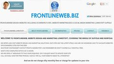 www.frontlineweb.biz website designer #Suffolk Uk