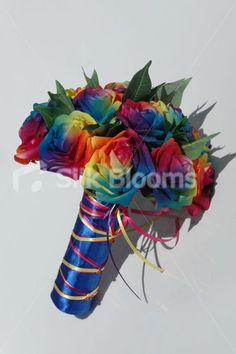 RainbowColorful Weddings On Pinterest Rainbow Flowers