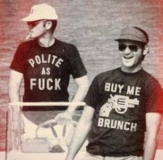 Bill Murray & Hunter S. Thompson These shirts are perfect for Hoboken!