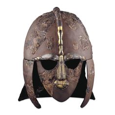 Famous Anglo-Saxon helmet from Sutton Hoo ('original' condition)