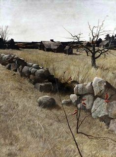 《 The Stone Fence 》 By Andrew Wyeth