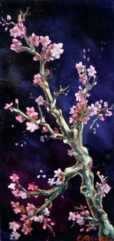 Cherry Blossoms Painting  - Cherry Blossoms Fine Art Print