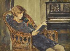 John Louis Wellington, Woman Reading a Book