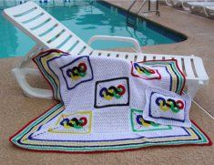 Olympic Rings Afghan and Pillow Pattern