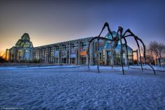 The sun sets over the Art Gallery of Ottawa -  Free General Admission Every Thursday 5-8 pm