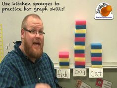 Graphing with sponges - Teacher Tipster