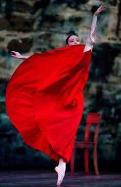 "Oksana Kucheruk, ""Portrait in Red"" (Ballet de l'Opéra National de Bordeaux) at 2014 Dance Open Savonlinna, Finland (July 2014) - Photographer Stas Levshin"