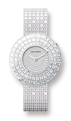 Louis Vuitton white gold watch
