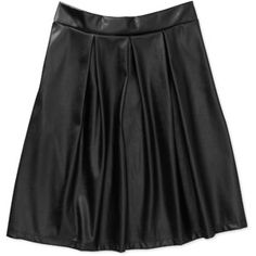 Stitch Women's Faux Leather Pleated Skirt. Walmart again. Excellent job! $16