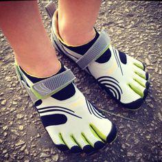 My Vibrams! Five fingers. Barefoot running.
