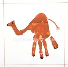 Handprint Camel Craft Project – Have the kids learn about desert animals, make the animal with finger paint, and use the animal as the middle of a web.  Write interesting facts they've learned about their animal around it.
