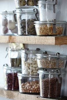 open shelf food storage