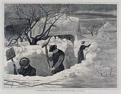 Winslow Homer (1836-1910):  'A Winter Morning Shovelling Out', 1871