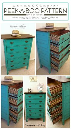 Furniture Stenciling Ideas On Pinterest Stenciling