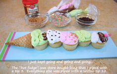 Ice Cream Cone Cupcakes!!!! by My Cake School