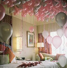 Sneak in your child's bedroom during the night before their birthday and release balloons for them to wake up to! Oh you know I will do this :) I LOVE birthdays!