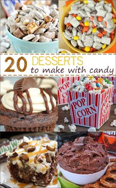 20 Amazing Desserts to Make with Candy Bars!
