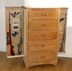 dresser gun cabinet plans