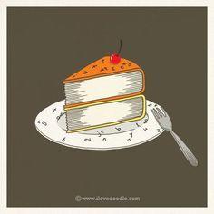 Cake books ilustración de Lim Heng Swee     Inderdaad boeken zijn net taartjes je kan ze niet laten liggen.