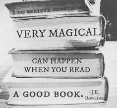 A good book is very magical