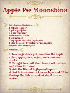 Moonshine on Pinterest Apple Pie Moonshine Wine Labels