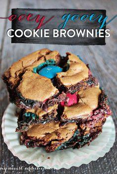 Ooey Gooey Cookie Brownies