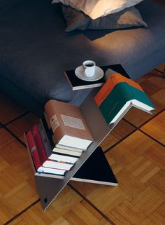 Side table for books
