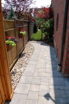 Walkway ideas on Pinterest | Garden Paths, Walkways and ... on Side Yard Walkway Ideas  id=93631