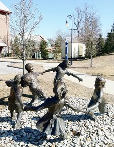 'Circle Of Peace' statue by Gary Lee Price (1999) - near the Center for Early Childhood Education at Eastern Connecticut State University in Willimantic, CT